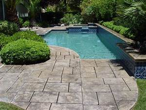 Sundek of austin concrete pool deck resurfacing for Pool deck ideas made from concrete