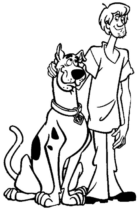 scooby doo coloring page free printable scooby doo coloring pages for