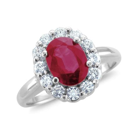 ruby halo engagement ring engagement