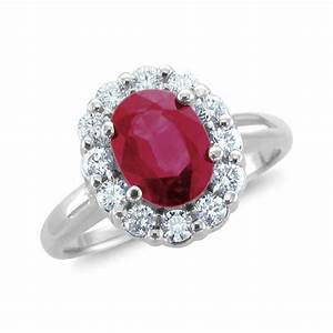 Diamond ruby halo engagement ring unusual engagement for Diamond and ruby wedding rings