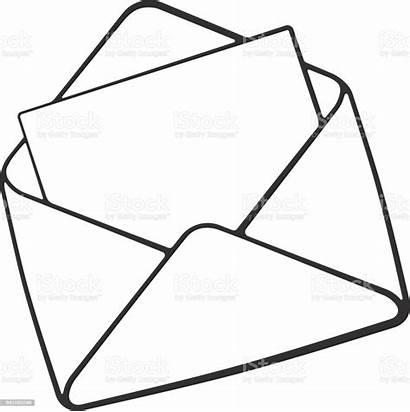 Envelope Doodle Opened Letter Drawing Envelop Mail