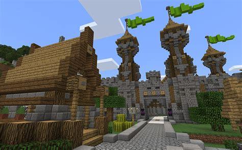 medieval village creation minecraft pe maps