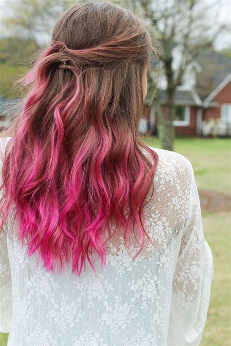 Best 25 Brown Hair Pink Tips Ideas On Pinterest