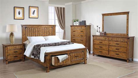 coaster bedroom furniture coaster brenner platform storage bedroom set rustic