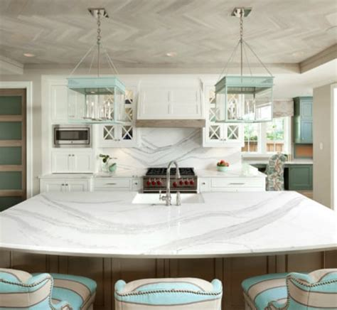 kitchen islands with sinks calacatta laza msi quartz denver shower doors denver