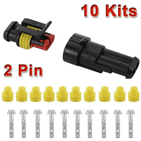 Kit Pin Way Sealed Waterproof Electrical Wire