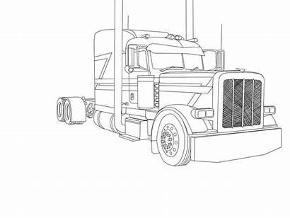 Trailer Coloring Semi Template Livestock Truck Templates