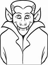 Vampire Coloring Pages Dracula Printable Halloween Getdrawings Getcolorings sketch template
