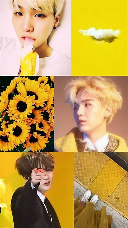 Bts Aesthetic Suga Yellow Collage Jungkook Lockscreen