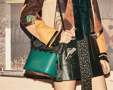 coachs resort  collection focuses  mixed media  lots   shoulder bag styles