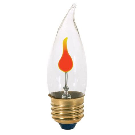flicker flame medium base light bulb 3 watt s3657