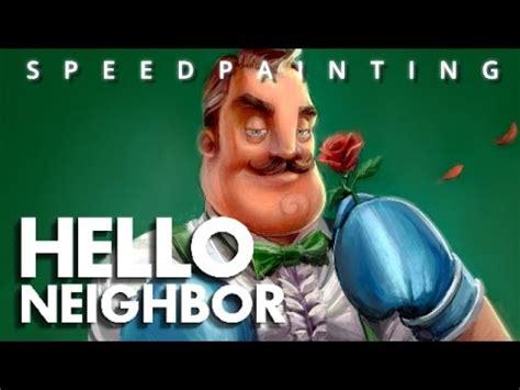 hello neighbor like gentleman sketch paint demo