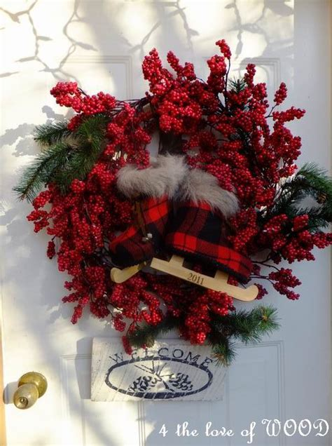 4 the love of wood red berry decor christmas decorating