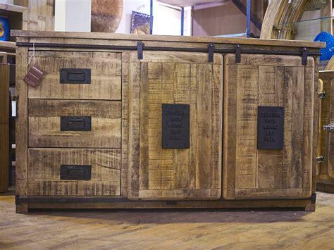 Mobile credenza industrial chic legno massello e ferro