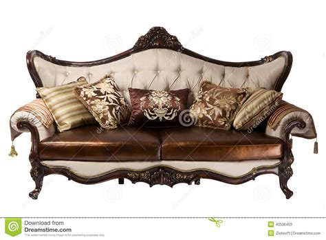 leather divan stock image image  isolated object