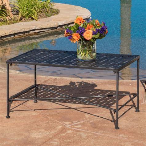outdoor black iron coffee table ebay
