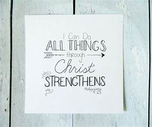 Philippians 413 bible verse hand lettering by for Hand lettering bible