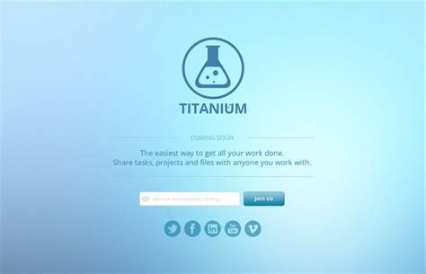 coming soon web page templates titanium coming soon page html5 website templates on