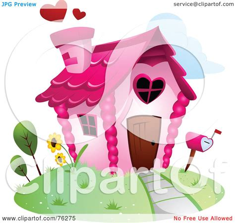 royalty free rf clipart illustration of a unique home by bnp design studio 76275