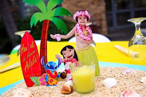 lilo  stitch luau party birthday party ideas photo