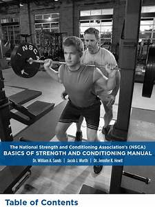 Nsca  Basics Of Strength And Conditioning Manual