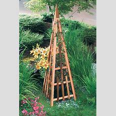 Pyramid Trellis  Cedar Wood Trellis Gardenerscom