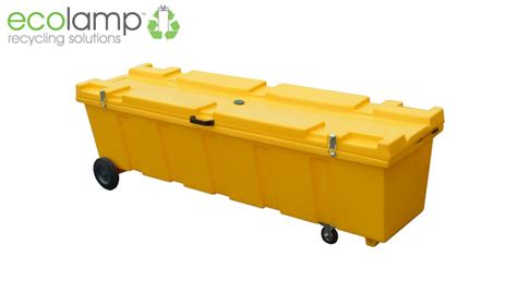 fluorescent l recycling collection heavy duty l storage container fluorescent l