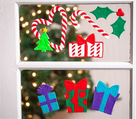 happy christmas window clings ilovetocreate