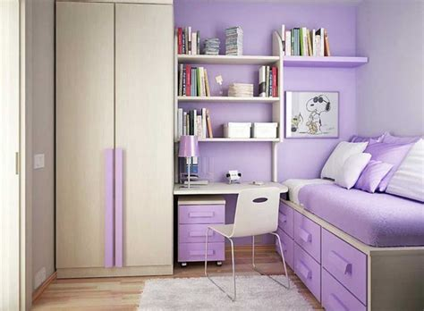 Cute Teen Girl Room Ideas With Purple Color Theme Home