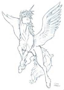 Unicorn with Wings Drawing