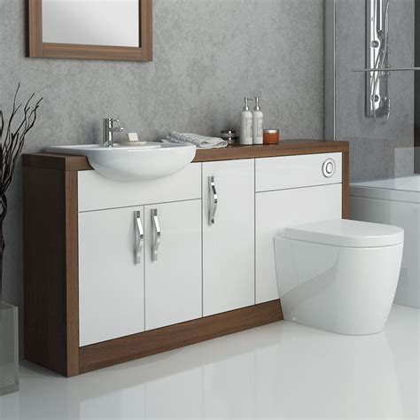 fitted bathroom ideas lucido 1500 fitted bathroom furniture pack white