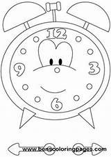 Clock Coloring Learn sketch template