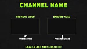 Free outro template v2 psd doovi for Outro template download