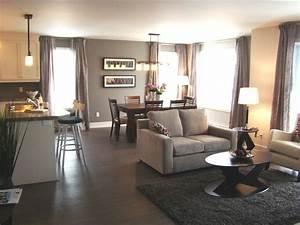 Open concept living-dining-kitchen, Aire ouverte salon