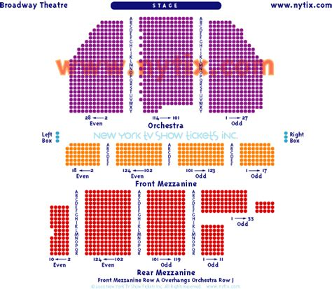 westchester broadway theatre seating chart seating chart the broadway theatre on broadway