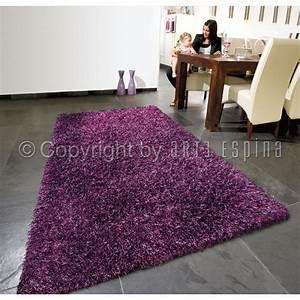 tapis shaggy beat violet arte espina 200x300 With tapis shaggy avec coussin canapé 80x40