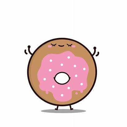 Donut Clipart Doughnut Happy Dessert Dancing Transparent
