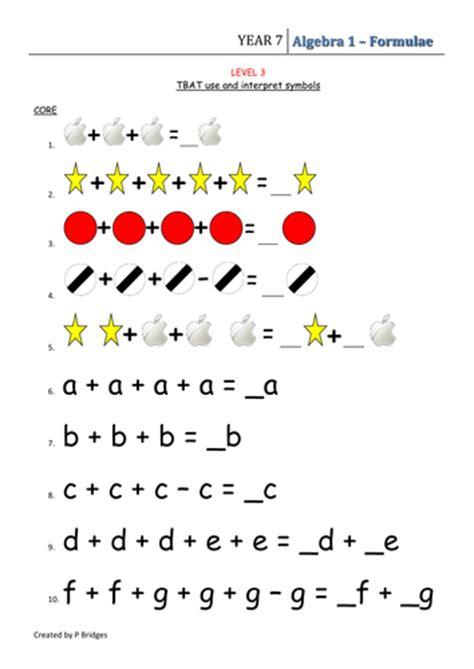 introduction  algebra  pbridges teaching resources