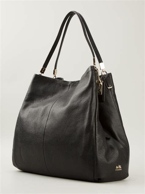 lyst coach phoebe shoulder bag  black