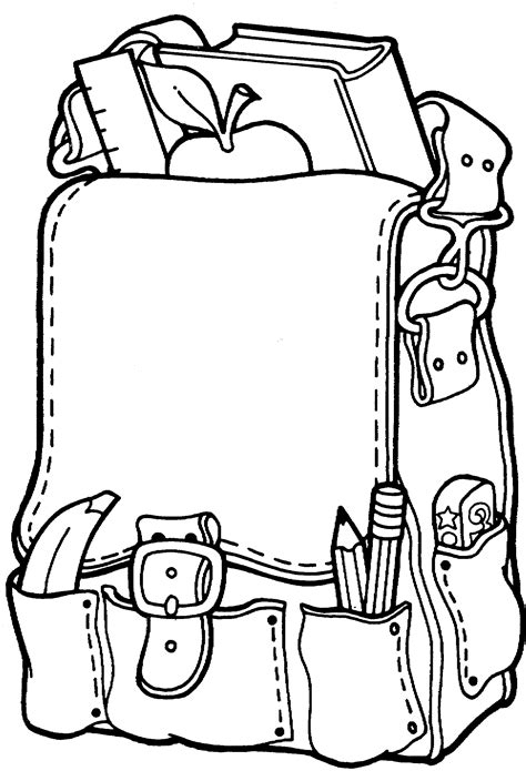 printable backpack coloring pages  preschoolers