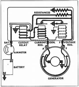 Charging Circuit Diagram For The 1956 Delco Remy 12 Volt