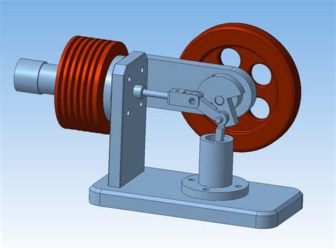 Проектная работа по 3d моделированию двигатель стирлинга