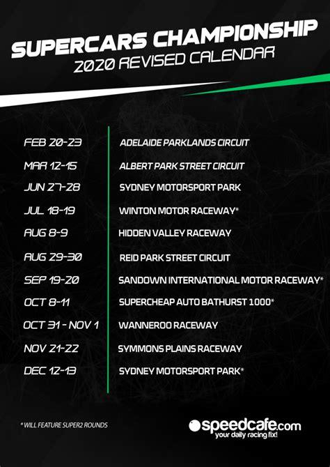 revised  supercars championship calendar