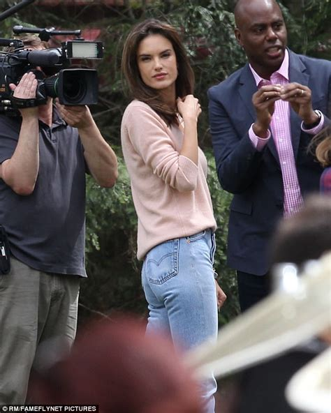 Alessandra Ambrosio gets to work on set of Daddy's Home 2 ...