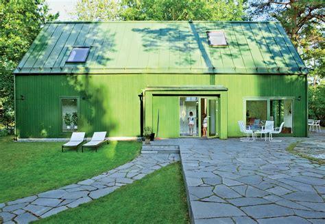 bright green prefab  sweden