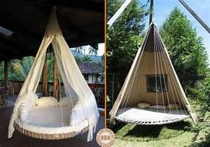 Hängebett Selber Bauen : mit einem alten trampolin ein h ngebett f r den garten bauen noch mehr ideen gibt es auf www ~ Eleganceandgraceweddings.com Haus und Dekorationen