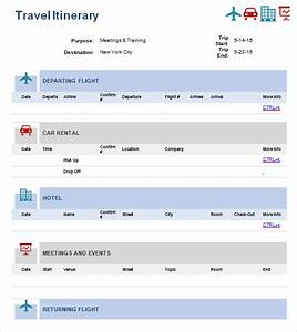 Itinerary template pdf travel itinerary template 5 for Documents 5 download online
