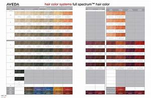Aveda Hair Color Chart 2019 Aveda Hair Color System Full Spectrum Hair Color Chart