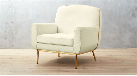 Halo White And Brass Armchair
