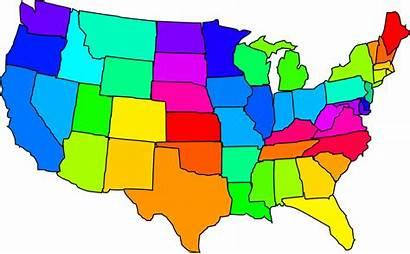Map States United Usa America Clip Clipart